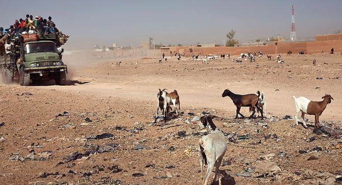 O deserto do Teneré (Sáhara)