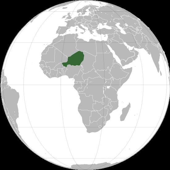Situación de Níxer no mundo